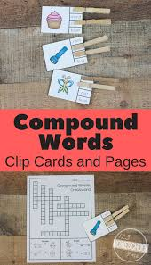 free compound words clip cards u0026 worksheets