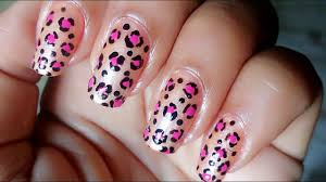 Design At Home by Easy Leopard Nail Art For Beginners At Home Tutorial Animal