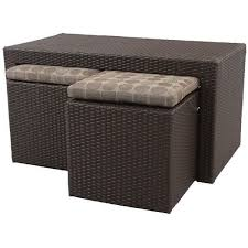coffee table with four ottoman wedge stools resin wicker patio coffee table furniture 2 stools seat ottoman tuck