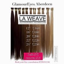 hair extensions aberdeen la weave glamoureyes aberdeen