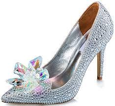 Wedding Shoes Amazon Amazon Com Littleboutique Cinderella Princess Crystal Shoes