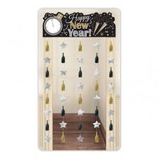 Happy New Year Decorations Large Happy New Year Door Curtain Banner Party Decoration Gold Or