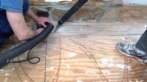Laminate Flooring Uneven Subfloor How To Install Your Laminate Around A Stone Fireplace Youtube
