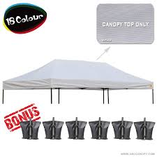 Awning Weights Abccanopy 10x20 Pop Up Canopy Replacement Top 100 Waterproof