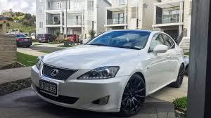 bagged lexus is350 2007 lexus is350 starfire pearl white black wheels xe20 gse21