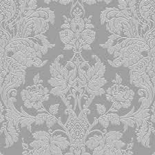 graham u0026 brown fibrous buckingham silver damask metallic wallpaper