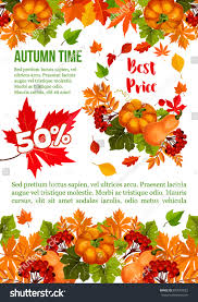 autumn sale banner template thanksgiving day stock vector