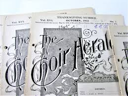 hymns of thanksgiving and praise the choir herald antique booklet thanksgiving hymns set of 6 1912