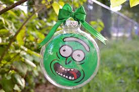 rick and morty pickle rick tree ornament