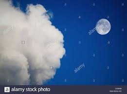moon and clouds on the blue sky stock photo 50702322 alamy