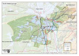 Lancashire England Map by South Ribble District Lancashire County Council