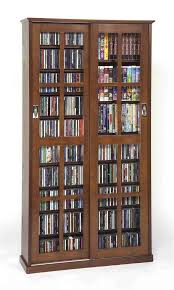 Cd Storage Cabinet With Glass Doors Leslie Dame Ms 700w Mission Multimedia Dvd Cd Storage