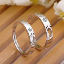 cute wedding rings images Footprint promise rings for couples sterling silver cute open jpg