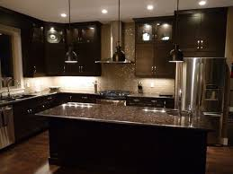 Dark Kitchen Countertops - dark kitchen cabinets and counter tops contemporary black kitchen