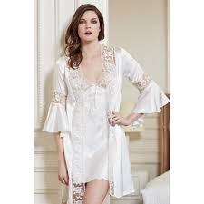 bridal nightwear honeymoon sensualgifts net bridal satin nightwear bell sleeves