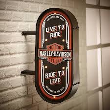 Harley Davidson Home Decor by Amazon Com Harley Davidson Hdmc Marquee Pub Sign Harley Davidson
