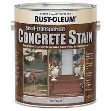 rust oleum semi transparent tint base concrete stain 1 gal at