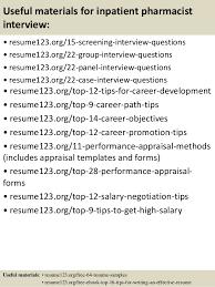 sample pharmacist resume pharmacy technician resume example by