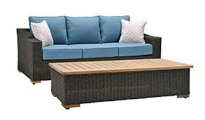 Sunbrella Patio Chairs by Sunbrella Outdoor Sofa Cushions For Patio Furniture Amazon Com