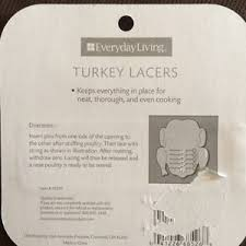 turkey lacers everyday living turkey lacers 8 ct item 61270 new sealed