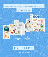 see floor plans of famous fictional homes from friends to
