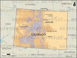 Map Of Denver Colorado by Geoatlas Us States Colorado Map City Illustrator Fully