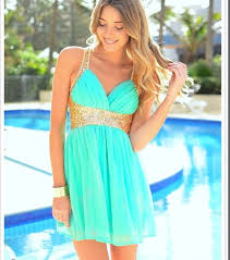 dress homecoming dress baby blue gold sequins turquoise dress