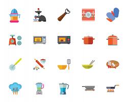 jeux de cuisine libre gratuit jeu d icônes de cuisine appareil télécharger des vecteurs gratuitement