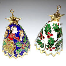 10 santa sarna cloisonne bell ornaments sold on ruby