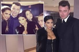 sam smith fan club kim kardashian flaunts cleavage as she cosies up to sam smith at his