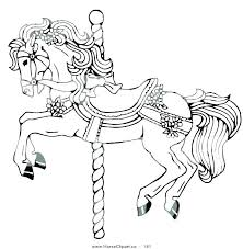 coloring sheets of a horse carousel horse coloring pages to print wisekids info