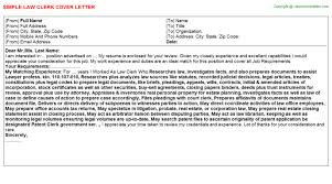 law clerk cover letter