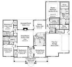 traditional style house plan 4 beds 3 5 baths 2750 sq ft plan