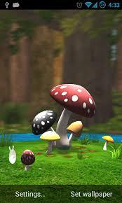 wallpaper 3d mushroom mushroom garden 3d lwp hd free download of android version m