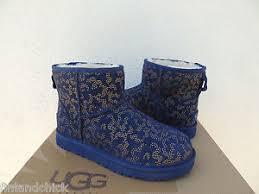 s navy ugg boots ugg navy mini metallic conifer suede sheepskin boots us