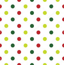 christmas polka dot background in red green and white u2014 stock