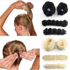 donut hair bun 2pcs fashion hair buns donut roll snap wrap maker hair styling