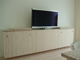 Wohnzimmerschrank Fernseher Versteckt Tv Schrank Selber Bauen