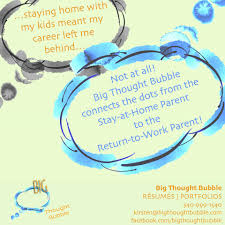 Gaps In Resume For Stay At Home Moms Big Thought Bubble Home Facebook