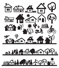 houses icons royalty free cliparts vectors and stock