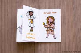 things to do in the bathroom mini folding book simple fun for kids