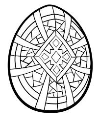 geometric cross easter egg coloring pages batch coloring