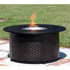 Fire Pits Propane Fire Sense Perissa Woven Round Cast Aluminum Propane Gas Fire Pit