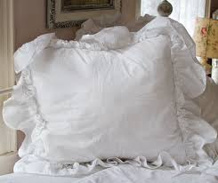 ruffle feminine bedding shabby style pillow shams romantic