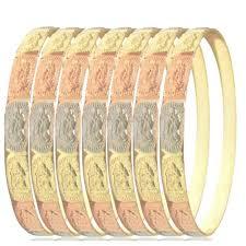 bangle bracelet color gold plated images Tri color set of virgin de guadalupe 5mm x 2 quot 5 wide indian bangle jpg