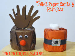 christmas crafts toilet paper santa and reindeer