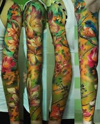 full sleeve gorgeous watercolor tattoo tattoo pinterest