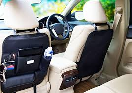 protection siege auto arriere cuir lot de 2 organisateur de voiture de siège arrière et