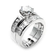 womens wedding ring sets silver wedding ring sets
