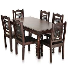 dinner table set bombay solid wood dining table with 6 chairs mynesthome dot com